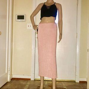 Dresses & Skirts - Women's Light Pink Stretch Maxi Skirt- Size Medium